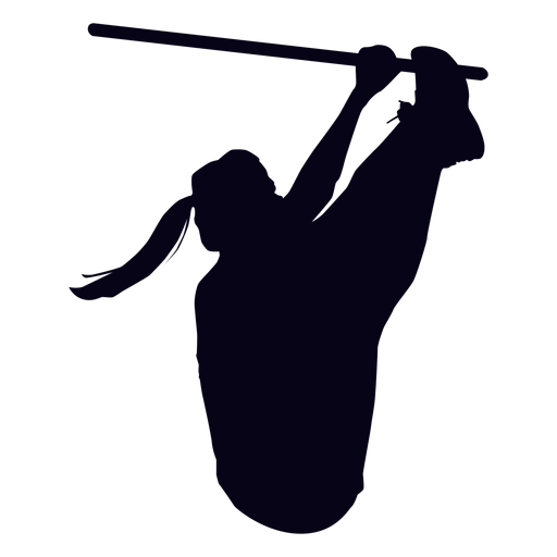 Toes to bar crossfit silhouette Transparent PNG