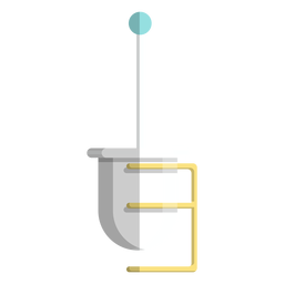 Toilet brush holder icon