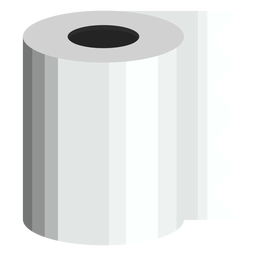 Toilet paper bath icon
