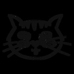 Língua fora mão de gato desenhada