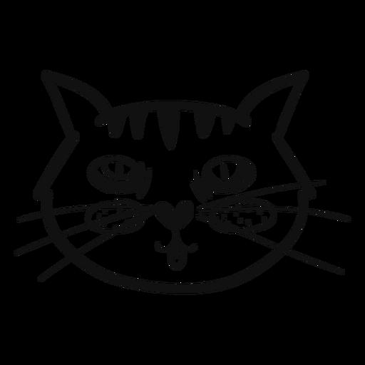 Língua fora mão de gato desenhada Transparent PNG