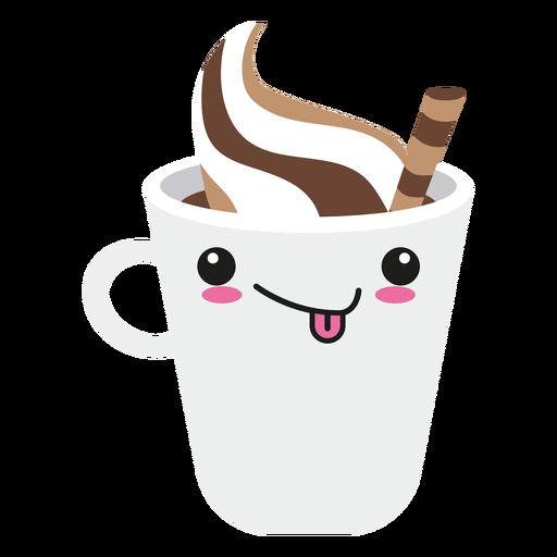 Zunge heraus kawaii Gesicht Kaffee Transparent PNG