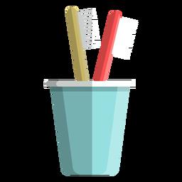 Icono de taza de cepillo de dientes