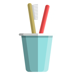Toothbrush cup icon