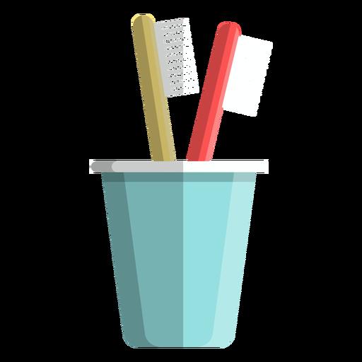 Ícone de copo de escova de dentes Transparent PNG