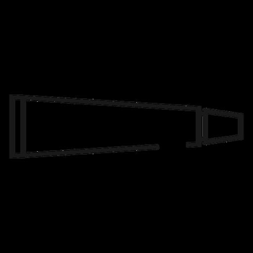 Ícone de traçado de pasta de dentes Transparent PNG