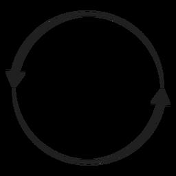 Kreis mit zwei Pfeilen