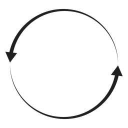 Two arrows circle