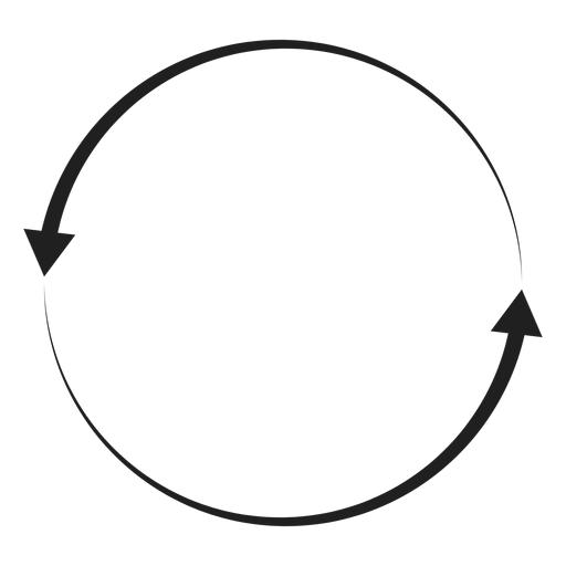 Two arrows circle Transparent PNG