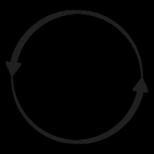 Two arrows circle