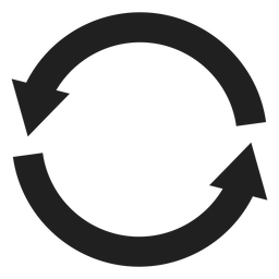 Duas grossas setas círculo