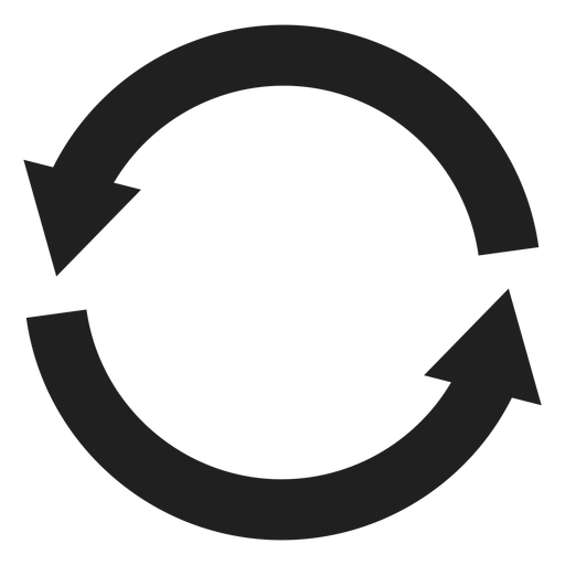 Two thick arrows circle Transparent PNG