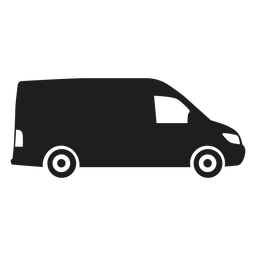 Silhueta de vista lateral de Van