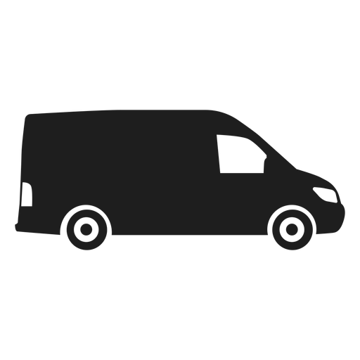 Van side view silhouette Transparent PNG
