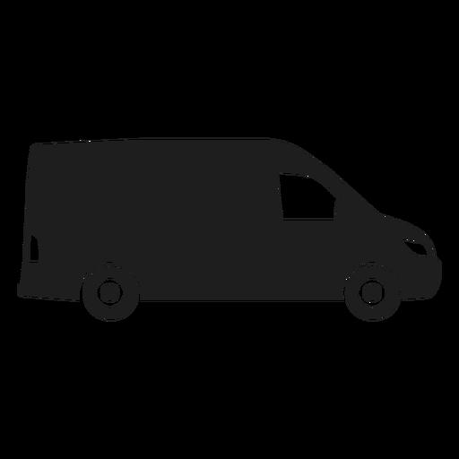 Van side view silhouette