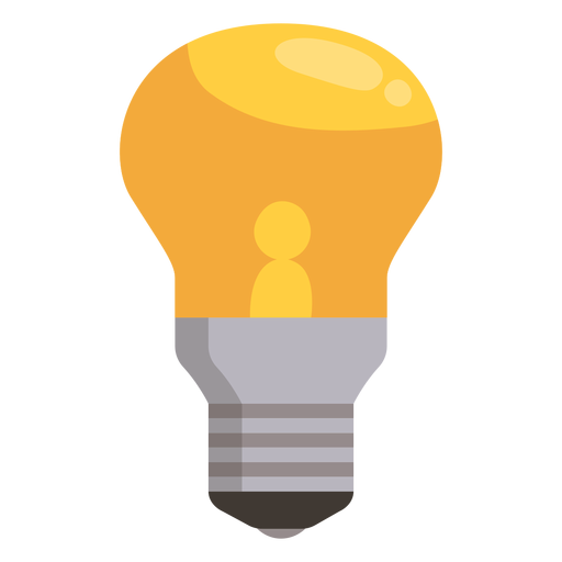 Vector light bulb Transparent PNG