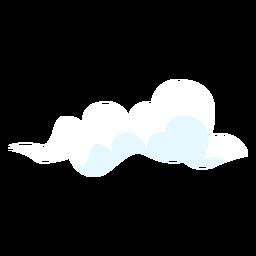Elemento de diseño de nube de clima