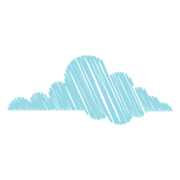 Weather cloud scribble