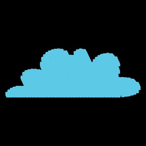Icono de garabato de nube de tiempo