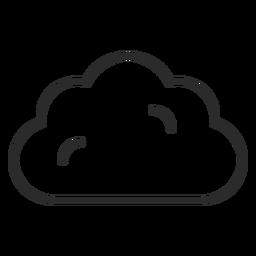 Wetter Wolke Schlaganfall-Symbol