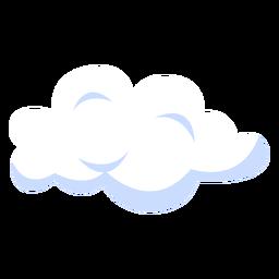 Ilustração da previsão do tempo na nuvem