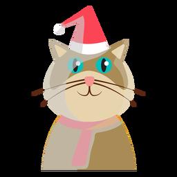 Ícone de gato de férias de inverno