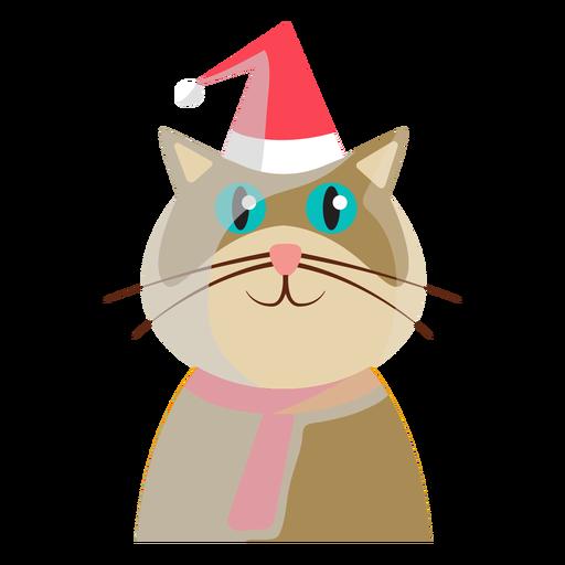 Icono de gato de vacaciones de invierno