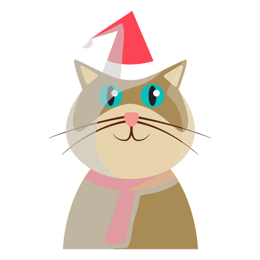 Winter holiday cat icon Transparent PNG