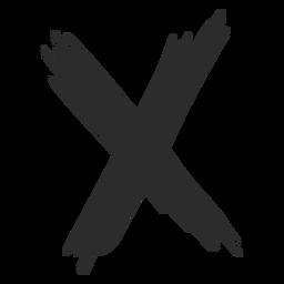 X Kreuz Gekritzel