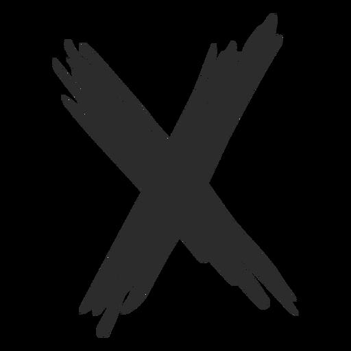 X cross doodle