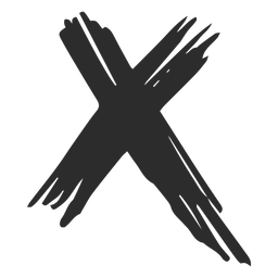 X-Kreuz-Gekritzel