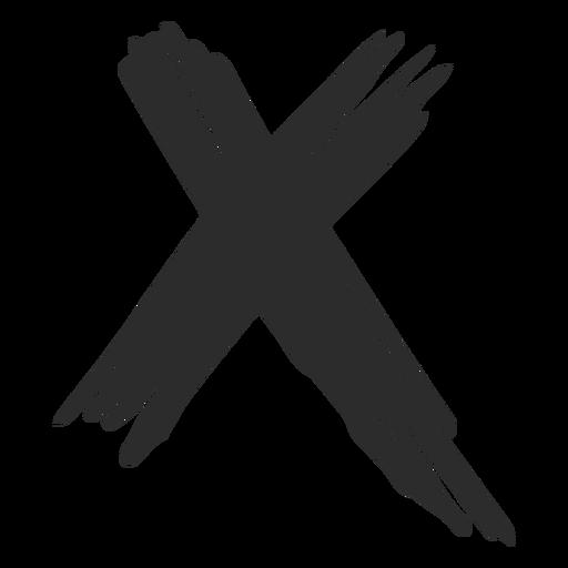 X cross scribble