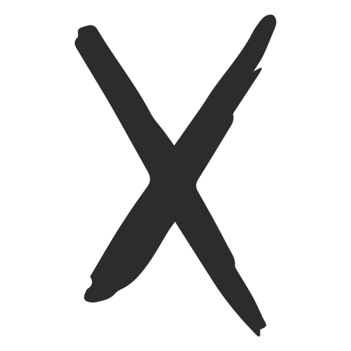 X cross scribble icon Transparent PNG