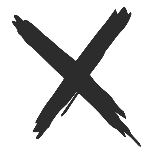 Icono de garabato de marca X