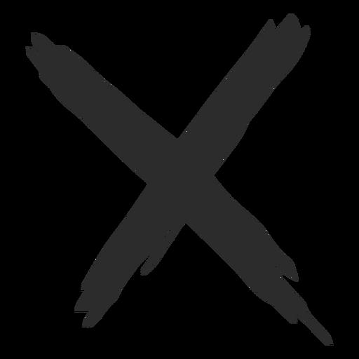 X mark scribble icon