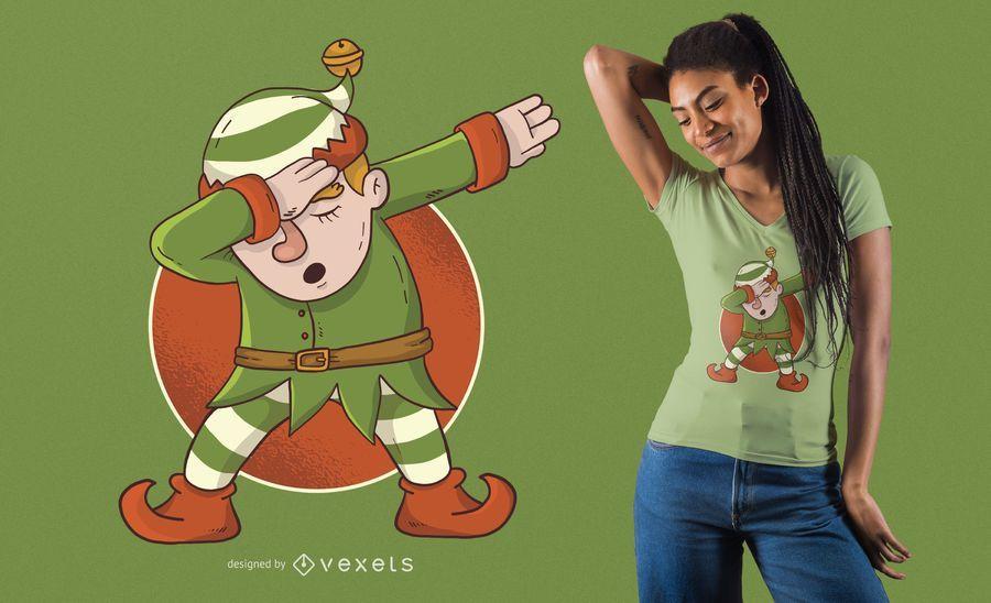 Elf Dabbing T-Shirt Design