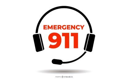 Emergency 911 Badge