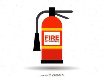Ilustração de extintor de incêndio