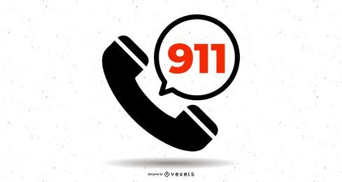 911 Telefon-Hotline-Symbol