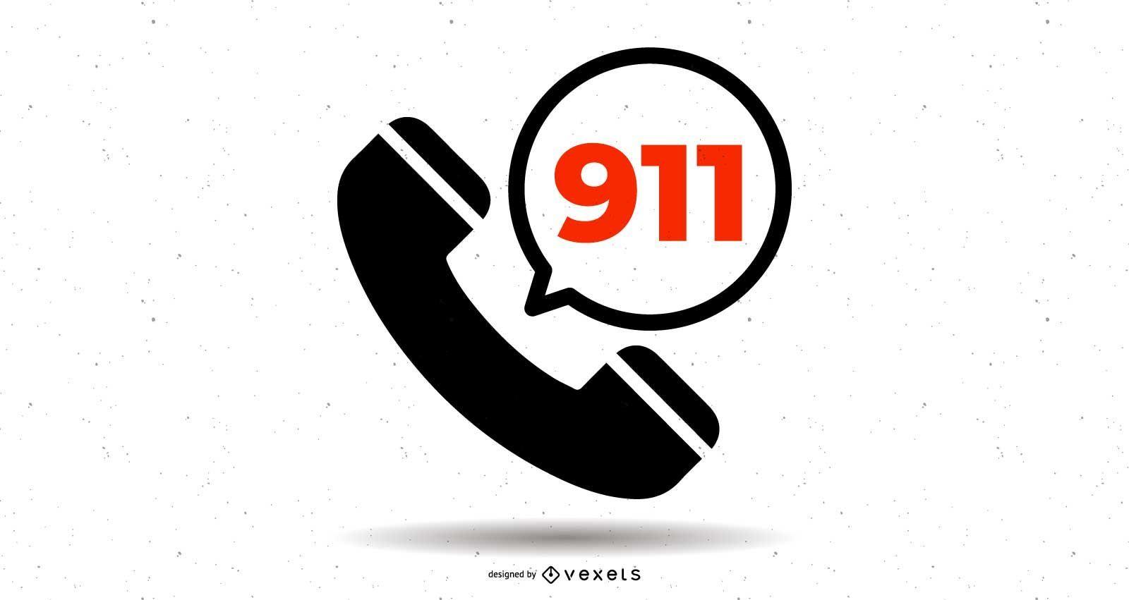 Símbolo de la línea directa del teléfono 911