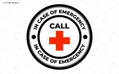 Crachá em caso de emergência