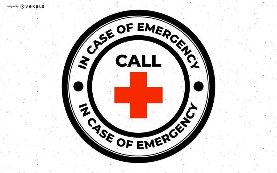 Em caso de distintivo de emergência