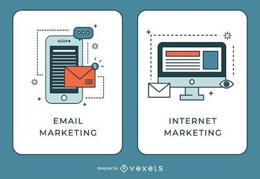 E-mail e banners de marketing na Internet