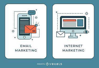 E-mail e banners de marketing na Internet