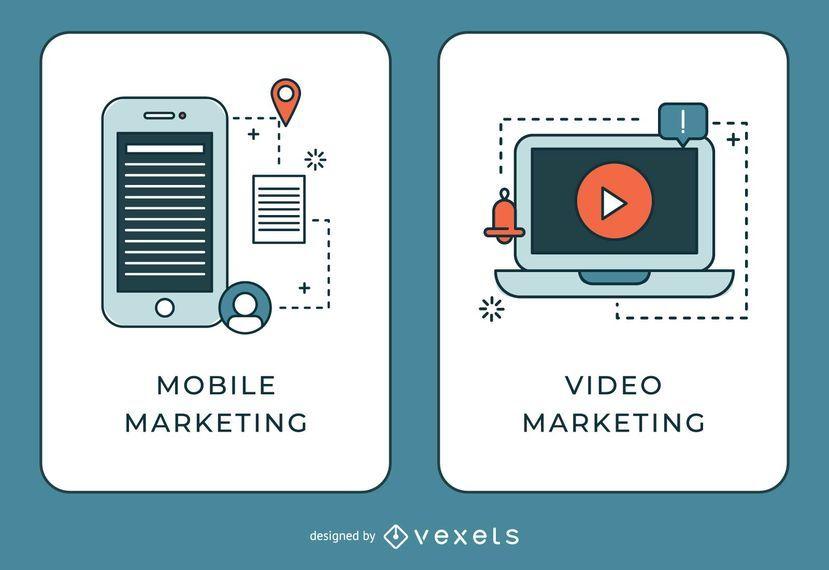 Mobile und Video Marketing Banner