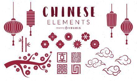Conjunto de elementos chineses