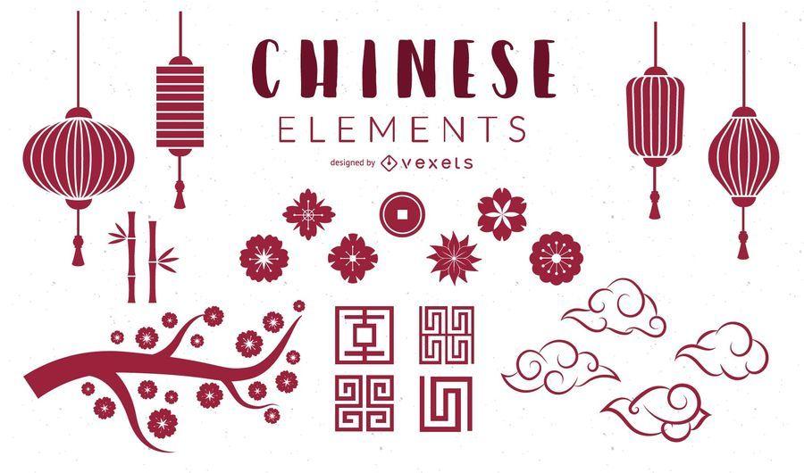 Chinese Elements Set