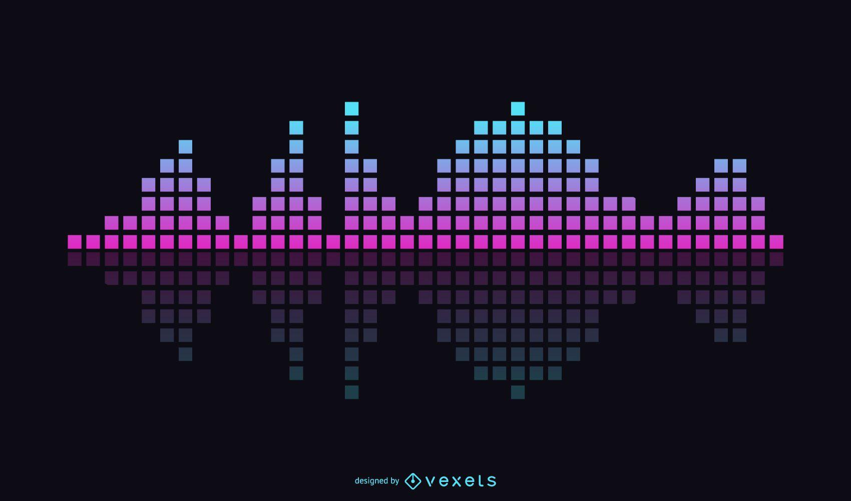 Tema de ecualizador de música vectorial