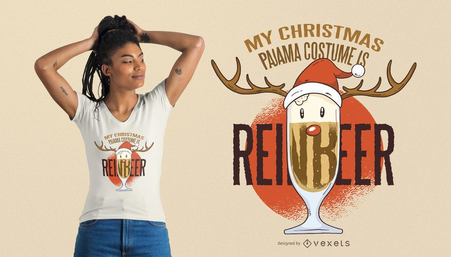 Reinbeer Christmas T-Shirt Design