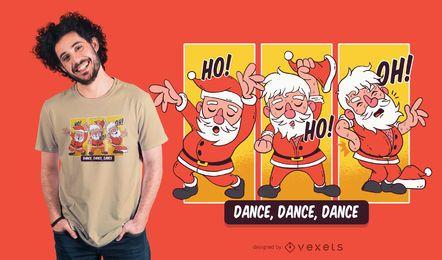Diseño de camiseta de Navidad de Santa Bailando